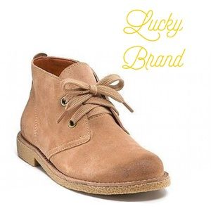 EUC Lucky Brand Lace Up Brown Booties